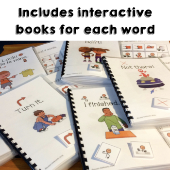 AAC Core Words Interactive Activities 10 Weeks to 40 Core Words Speech Therapy