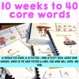 AAC Core Words Interactive Activities 10 Weeks to 40 Core