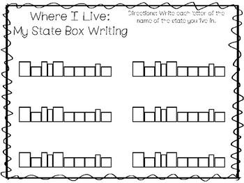 10 Where I Live No Prep California State Name Tracing and Activities. Non Editab