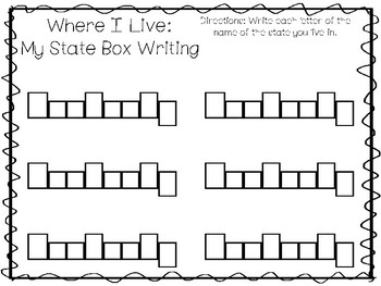 10 Where I Live No Prep Kentucky State Name Tracing and Activities. Non-editable