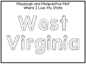 10 Where I Live No Prep West Virginia State Name Tracing and Activities. Geograp