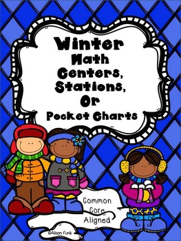 10 Winter Math Centers, Stations, or Pocket Charts