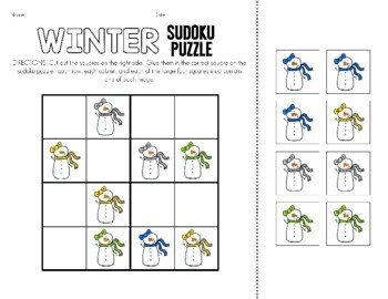 10 Winter Sudoku Puzzles.