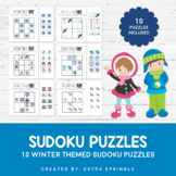 10 Winter Sudoku Puzzles