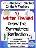 "10 Winter Themed ""Color the Symmetry Reflection"" for GT and Early Finishers"