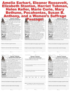 Susan B. Anthony: 10 Women's History Month Biographies 5 Levels EACH Close Read