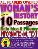 10 Women's History Month Biographies CLOSE READING LEVELED PASSAGES