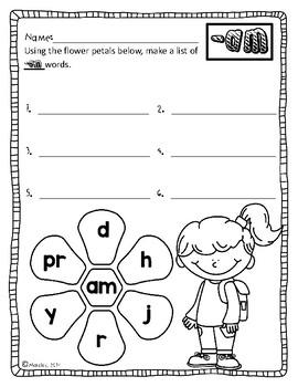 10 Word Family Printables