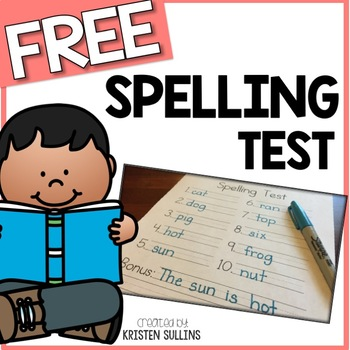Word Spelling Test Template By Kristen Sullins  Tpt