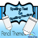 10 Word Spelling Test and Practice Template Pencil Shape 2