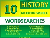 10 Wordsearches History Modern World History Wordsearch World War One Two