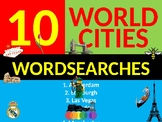 10 Wordsearches World Cities City Keyword Starters Wordsearch Geography