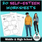 10 Worksheets- Self-Esteem/Self-Confidence- Activities- Go