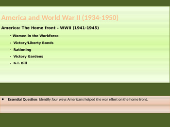 10. World War II - Lesson 3 of 5 - American Homefront during World War II