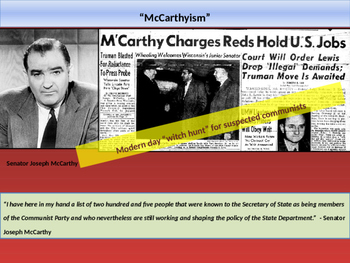 10. World War II - Lesson 5 of 5 - Red Scare/McCarthyism