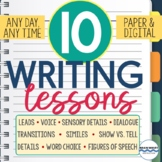 10 Writing Lessons - Great Writing Mini-Lessons for Writer's Workshop