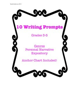 10 Writing Prompts for Personal Narrative and Expository