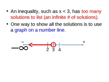 10) Writing and Graphing Inequalities (Complete PPT Lesson)