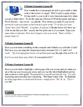 10 X 5-Minute Computer Lessons