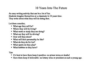 10 Years Into The Future