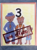 10 affiches en couleurs des nombres 1 à 10- 10 Posters of numbers 1 to 10