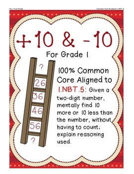 +10 and -10 for Grade 1 ... 1.NBT.5