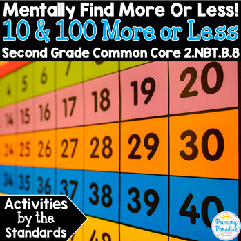 10 and 100 More or Less: 2.NBT.B.8 Common Core Math 2nd Grade