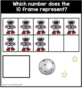 10 and 20 Frame Task Cards | Counting Astronauts.
