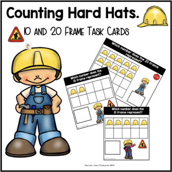 10 and 20 Frame Task Cards | Counting Hard Hats