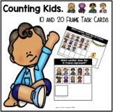 10 and 20 Frame Task Cards | Counting Kids