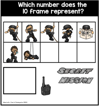 10 and 20 Frame Task Cards | Counting Secret Agents