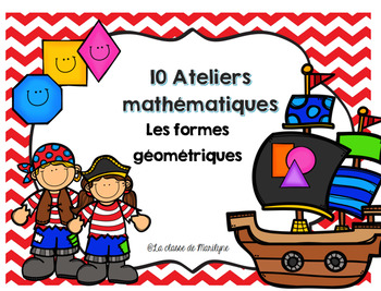 10 ateliers mathématiques les formes géométriques et ensemble d'affiches