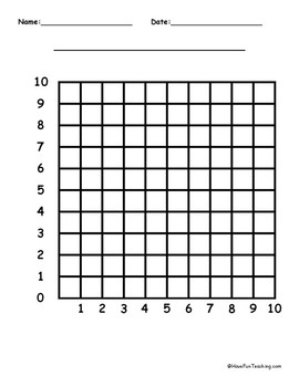 10 by 10 Blank Graph Paper