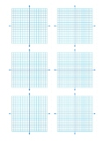 10 by 10 coordinate grids 6 per page