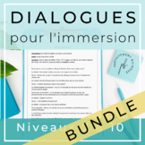 10 dialogues inspirés par la culture populaire /French Dialogue Scripts
