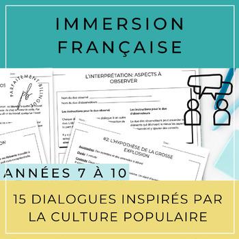 10 dialogues inspirés par la culture populaire /French Dialogue Scripts