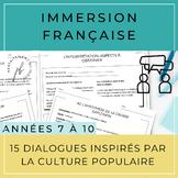 10 dialogues inspirés par la culture populaire /French Dia
