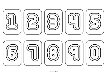 10 different sets of Digit Cards - Clipart