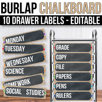 10 drawer Cart Label Editable Sterilite Drawer Labels EDITABLE Buralp Chalkboard