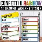 10 drawer Cart Labels Editable, Sterilite Drawer Labels EDITABLE