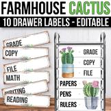 10 drawer Cart Labels Editable Sterilite Drawer Labels EDITABLE