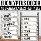 10 drawer Cart Labels Editable, Sterilite Drawer Labels EDITABLE Magnolia Decor