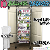 10 drawer cart labels- EDITABLE - Bright Kids