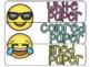 10 drawer cart labels- EDITABLE - Emoji Theme