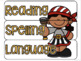 10 drawer cart labels- EDITABLE - Pirate Theme