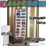 10 drawer cart labels - EDITABLE - Superhero
