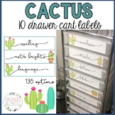 10 drawer cart labels   cactus