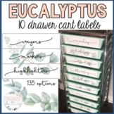 10 drawer cart labels | eucalyptus | editable