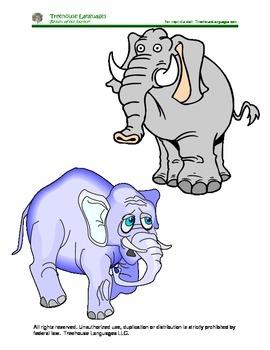 10 elephants: 10 elefantes
