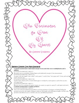 The Perimeter & Area of My Heart: A CCSS Math Edible Activity with Lesson Plan